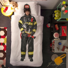 Load image into Gallery viewer, Firefighter Duvet Cover Set - Free Shipping-Fussbudget.com