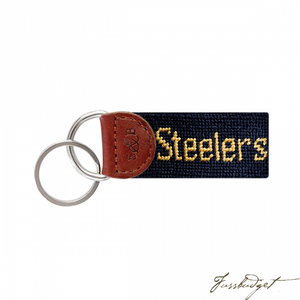 Pittsburgh Steelers Needlepoint Key Fob-Fussbudget.com