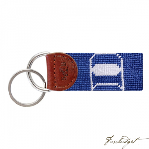 Duke Needlepoint Key Fob-Fussbudget.com