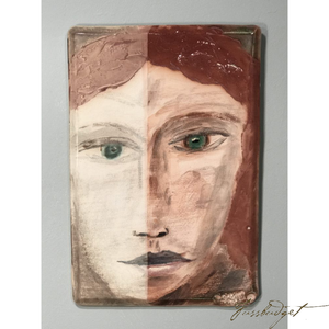 "Two Tone Portrait of a Woman's Face by Tom Turnball (16"" x 10 ½"")-Fussbudget.com"