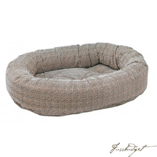 Load image into Gallery viewer, Herringbone Donut Bed-Fussbudget.com
