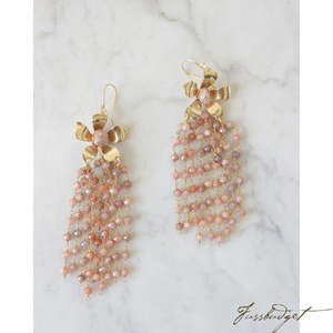 NATALIE EARRINGS | PEACH MOONSTONE