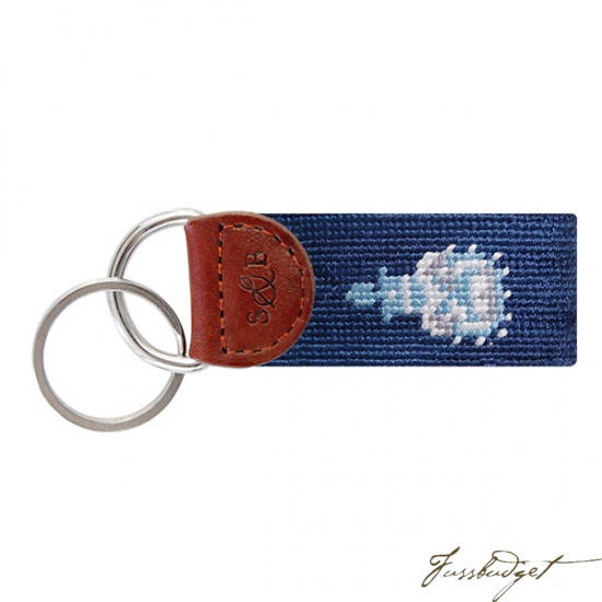 The Citadel Needlepoint Key Fob-Fussbudget.com