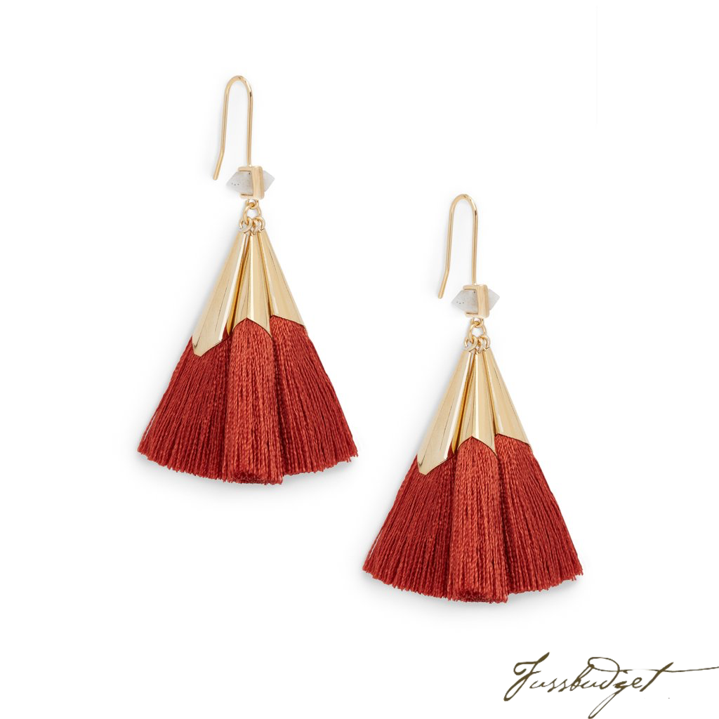 SONIA TASSEL EARRINGS | TERRA COTTA-Fussbudget.com