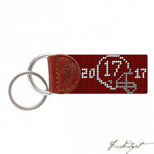 Load image into Gallery viewer, Alabama 2017 National Championship Needlepoint Key Fob-Fussbudget.com