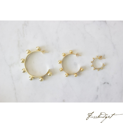 Jamie Hoop Earrings | Medium, Gold