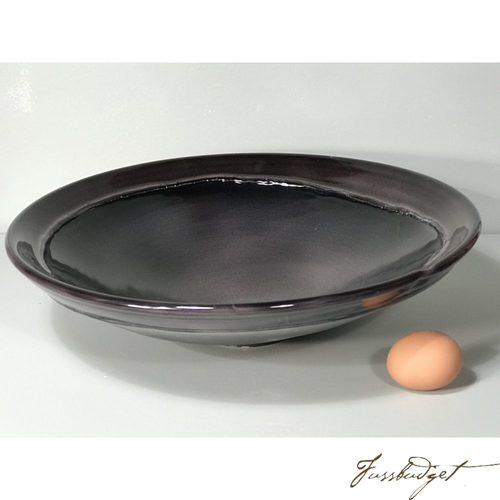 Black Bowl Platter by Tom Turnbull-Fussbudget.com