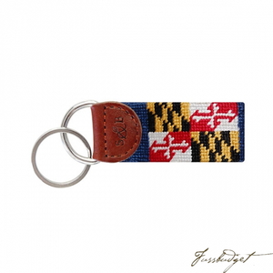 Maryland Flag Needlepoint Key Fob-Fussbudget.com