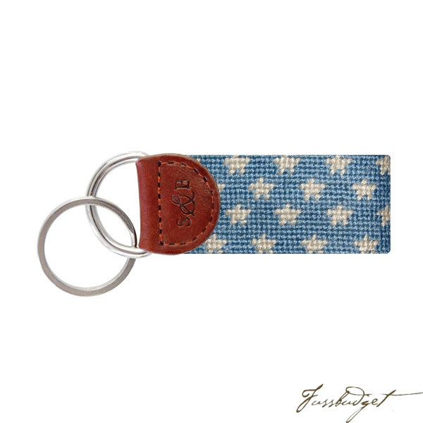 Stars and Stripes Needlepoint Key Fob-Fussbudget.com