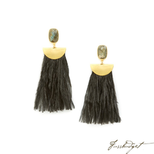 Load image into Gallery viewer, JILL EARRINGS | BLACK-Fussbudget.com