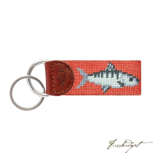 Bonefish Needlepoint Key Fob-Fussbudget.com