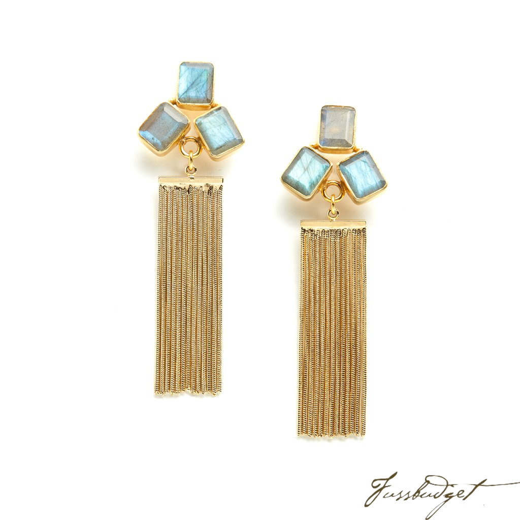 VANESSA EARRINGS | LABRADORITE-Fussbudget.com