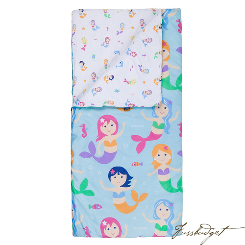 Mermaids Microfiber Sleeping Bag w/ Pillowcase-Fussbudget.com