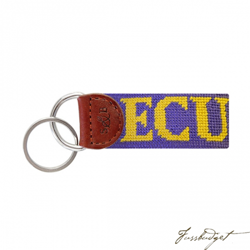 East Carolina Needlepoint Key Fob-Fussbudget.com