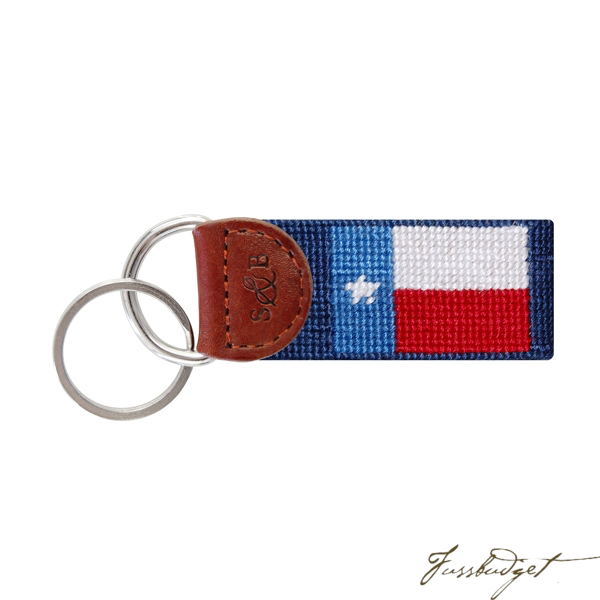 Texas Flag Needlepoint Key Fob-Fussbudget.com