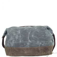 Load image into Gallery viewer, Monogrammed Waxed Top Zip Dopp Kit Olive - Look Below for Links to Fonts & Colors-Fussbudget.com