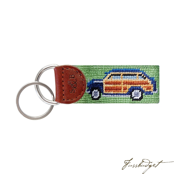 Woody Needlepoint Key Fob-Fussbudget.com