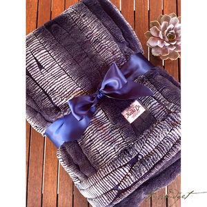 INDIGO COUTURE THROW