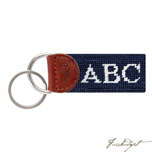 Load image into Gallery viewer, Monogrammed Needlepoint Key Fob-Fussbudget.com