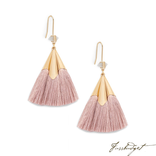 SONIA TASSEL EARRINGS | DARK BLUSH