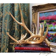 Load image into Gallery viewer, Faux Golden Antlers [Set of 2]-Fussbudget.com