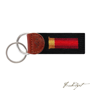 Shotgun Shell (Black) Needlepoint Key Fob-Fussbudget.com