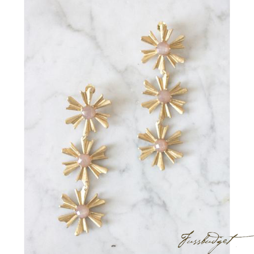 ALLIE EARRINGS | PEACH MOONSTONE