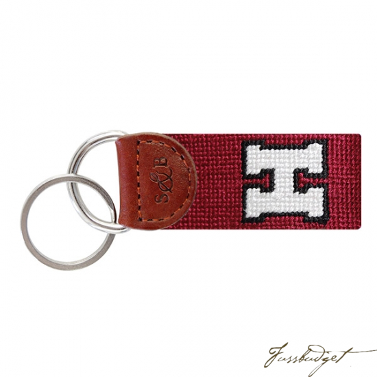 Harvard University Needlepoint Key Fob-Fussbudget.com