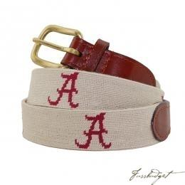 Khaki University of Alabama Needlepoint Belt