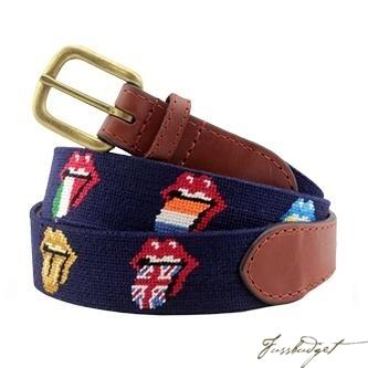Rolling Stones Multi Licks Needlepoint Belt