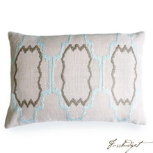Load image into Gallery viewer, Lilly Pillow - Blue Flower-Fussbudget.com