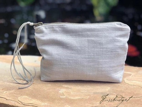LINEN METALLIC ACCESSORY BAG