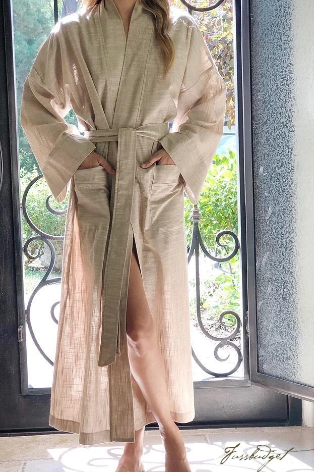 LUXE LINEN LONG ROBE