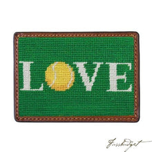 Load image into Gallery viewer, Love All Needlepoint Card Wallet Final Sale