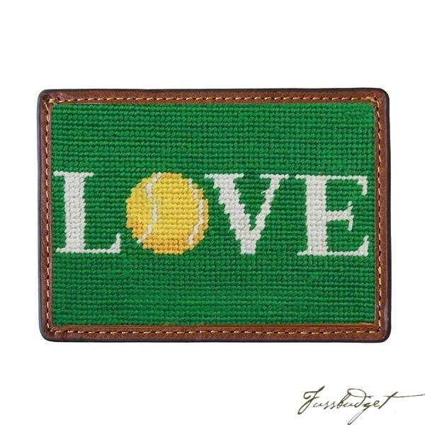 Love All Needlepoint Card Wallet Final Sale