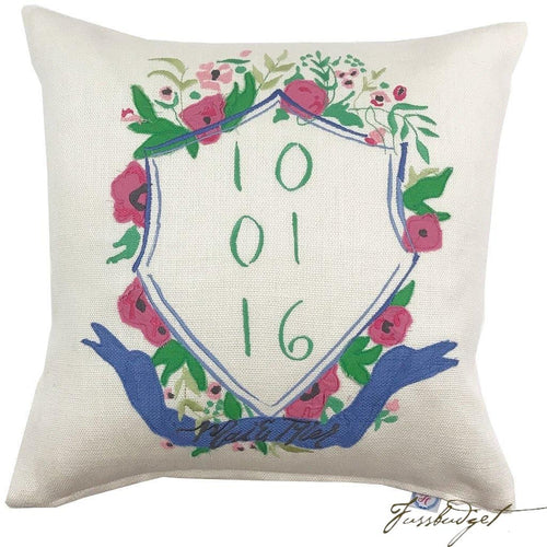 Commissioned Wedding Pillows-Fussbudget.com