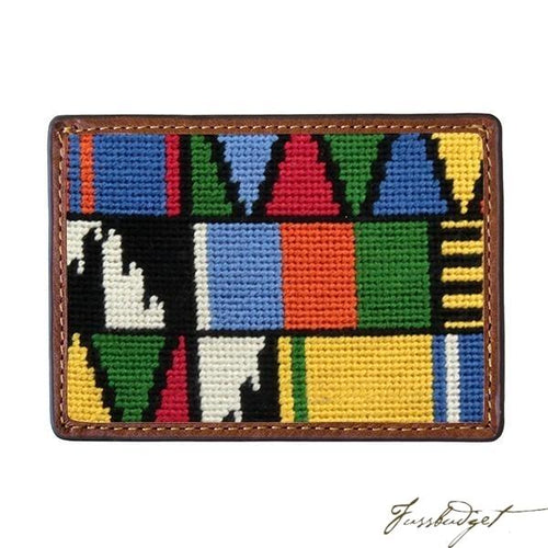 Mayan Pattern Needlepoint Card Wallet