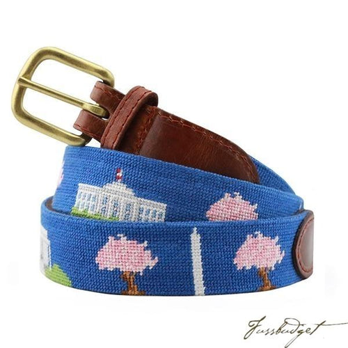 DC Monuments Needlepoint Belt