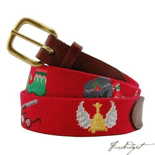 Christmas Movies Needlepoint Belt