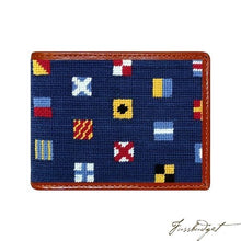 Load image into Gallery viewer, Mixed Signals Needlepoint Bi-Fold Wallet
