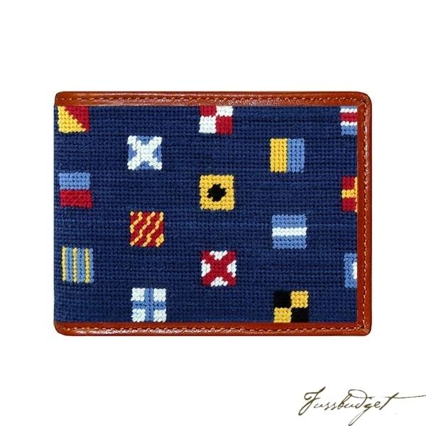 Mixed Signals Needlepoint Bi-Fold Wallet