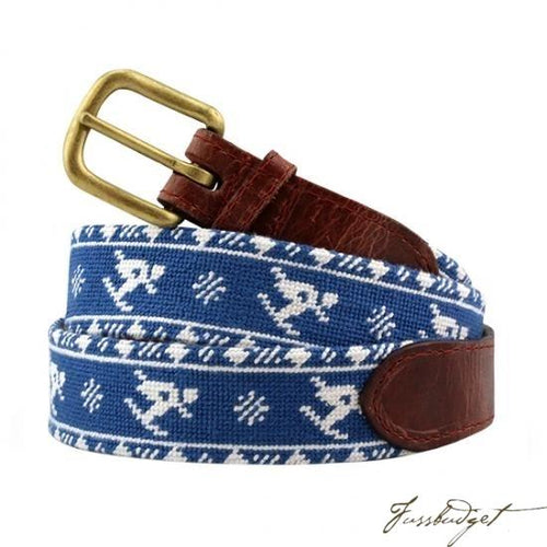 Skier Fairisle Needlepoint Belt