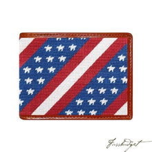 Load image into Gallery viewer, Star Spangled Banner Needlepoint Bi-Fold Wallet