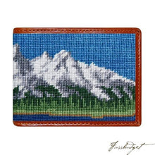 Load image into Gallery viewer, Tetons Needlepoint Bi-Fold Wallet
