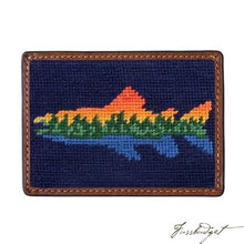 Load image into Gallery viewer, Lake Trout Needlepoint Card Wallet