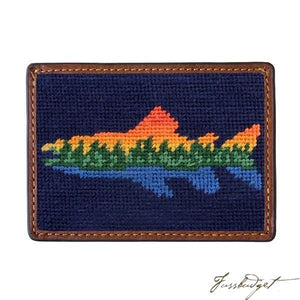 Lake Trout Needlepoint Card Wallet