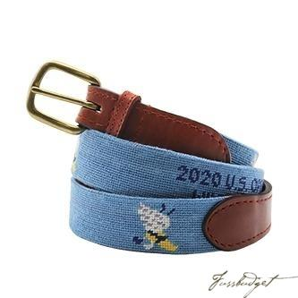 2020 U.S. Open Winged Foot Needlepoint Belt (Light Blue)