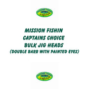 Mission Fishin Captains Choice 19ct. Bulk Jig Heads (Double Barb With Painted Eyes)