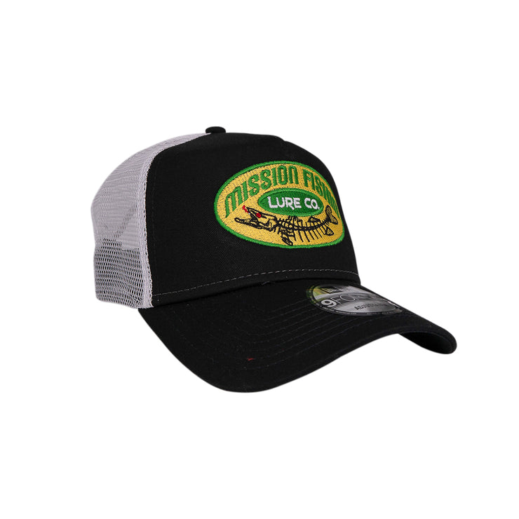 Mission Fishin Classic (Black/White) Old School Trucker hat