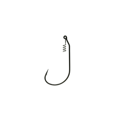 5/0 Black Unweighted Jerk Bait Hook With Corkscrew Keeper